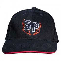Casquette brodée SP + flammes