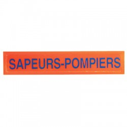 Barrette orange Sapeurs...