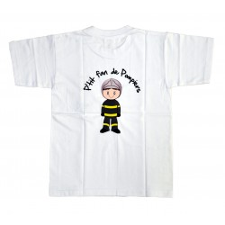 "Tee shirt ""p'tit fan"" blanc"