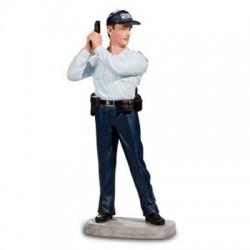 Résine Policier arme levée