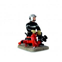 Pompier avec canon vector