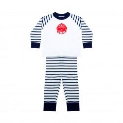 Pyjama à rayures pompier